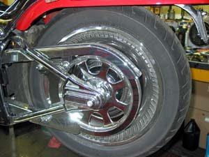 rear motorcycle wheel