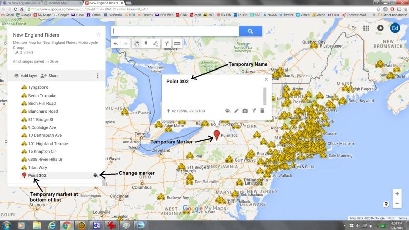 screenshot of member map