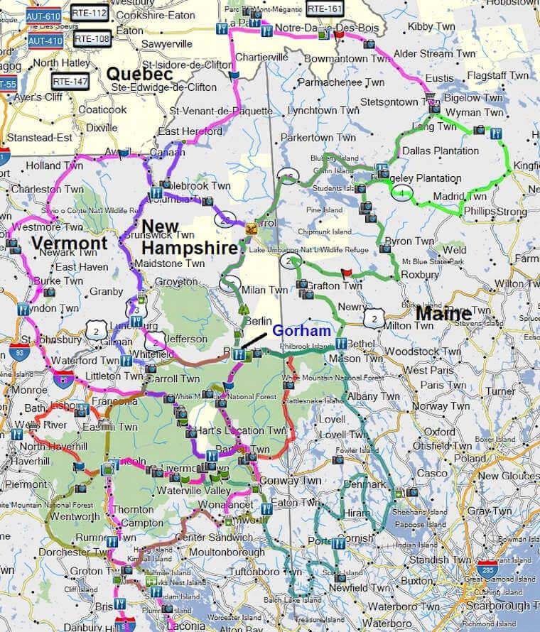 Gorham NH motorcycle rides